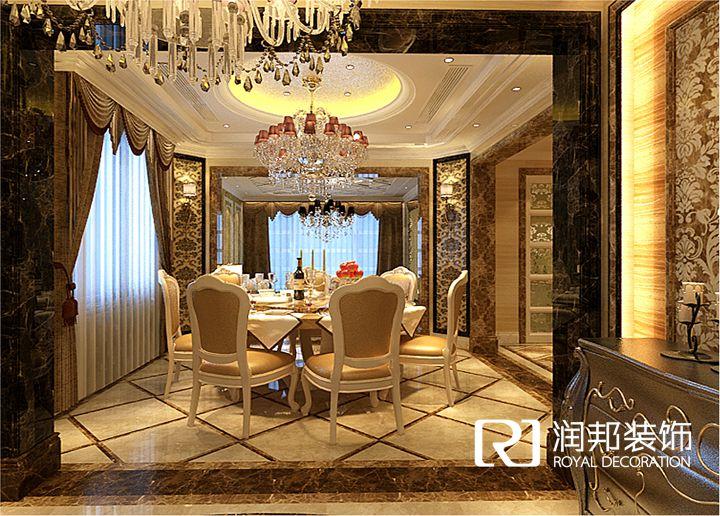 龙湖滟澜山叠加别墅欧式古典风格_复式案例_无锡润邦