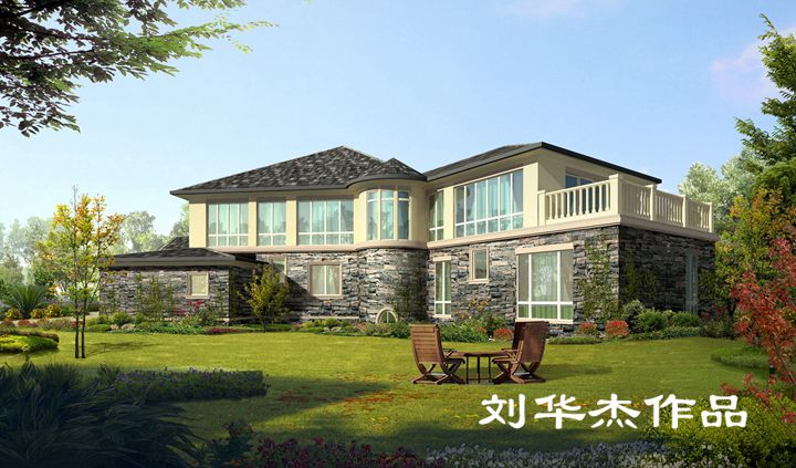 湖玺庄园独栋别墅欧式风格无锡润邦装饰图片