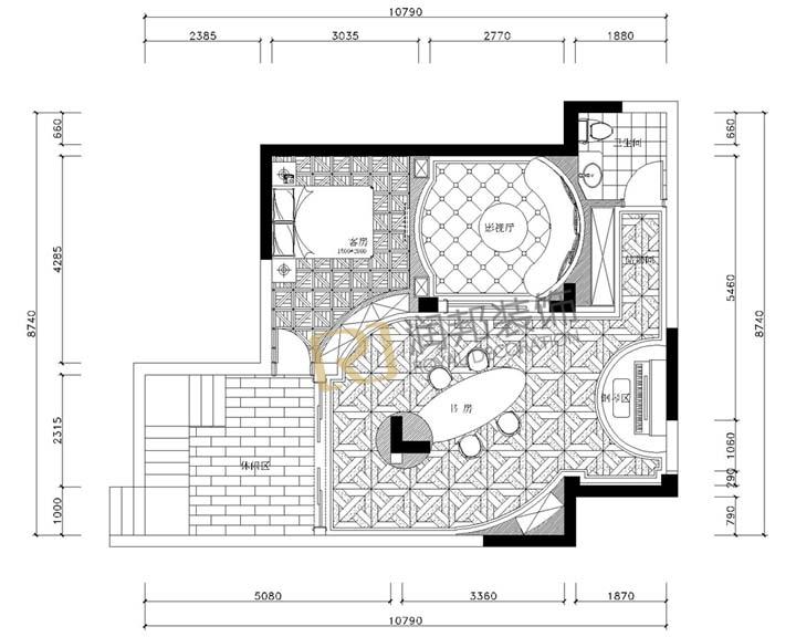 90平方米装饰公司设计平面图