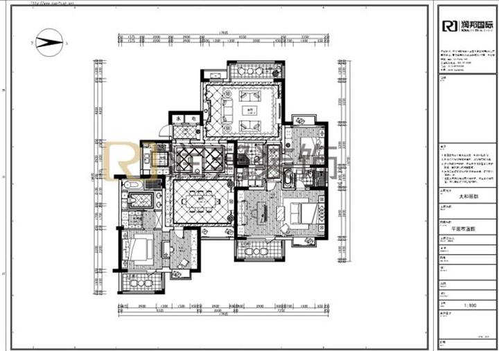一百平方房子结构图