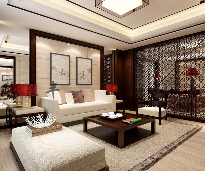 玉祁自建别墅390平米新中式风格