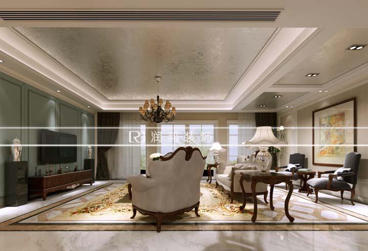 龙湖九墅190平方现代欧式风格无锡润邦装饰
