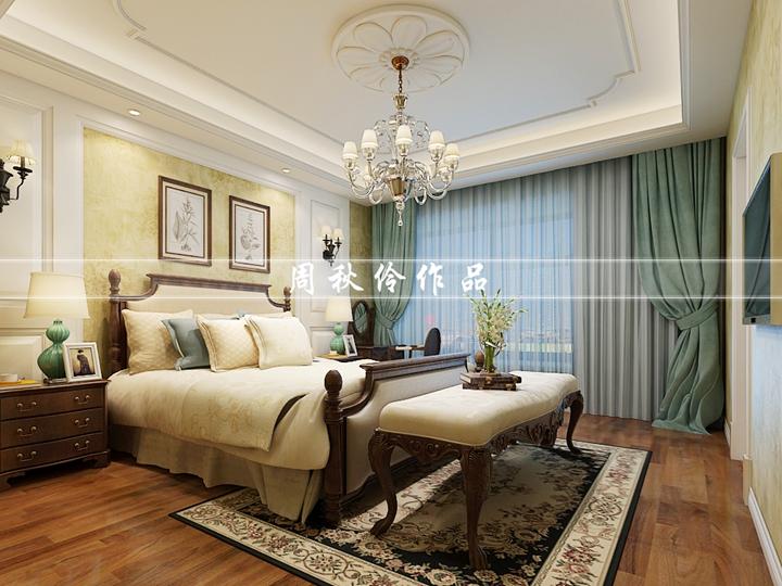 金色江南180平米复式结构美式奢华风格设计作品鉴赏