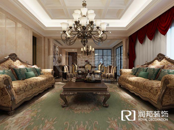 太湖国际198平新古典风格无锡润邦装饰