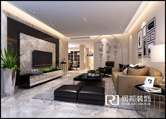春江花园154平米现代简约风格无锡润邦装饰