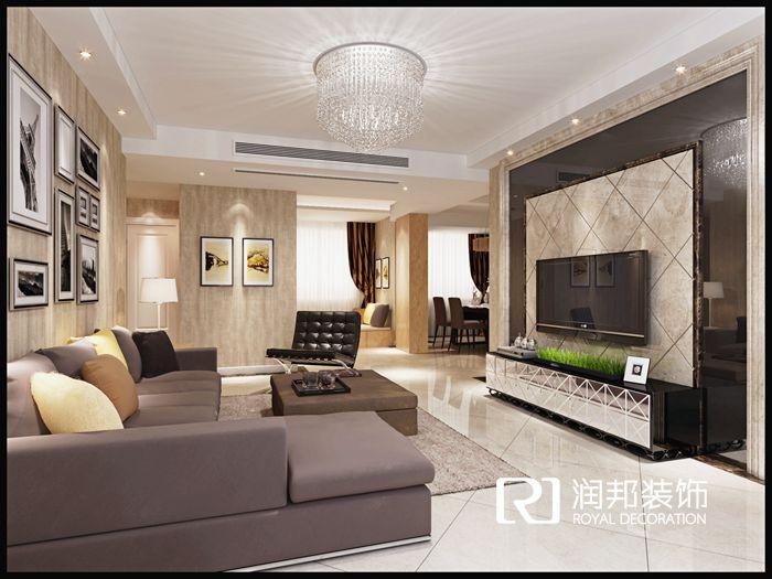金科米兰119平米现代风格无锡润邦装饰