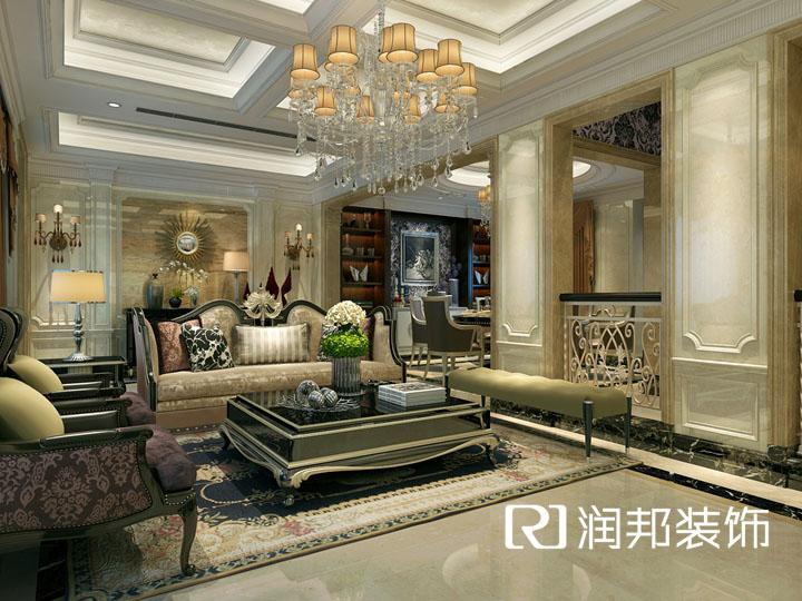 无锡装饰装修九龙仓碧玺218平方欧式风格设计 润邦装饰设计作品