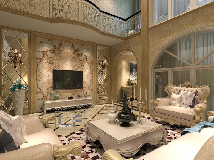 凤翔馨城420平方独栋别墅欧式风格设计效果图 润邦装饰无锡公司
