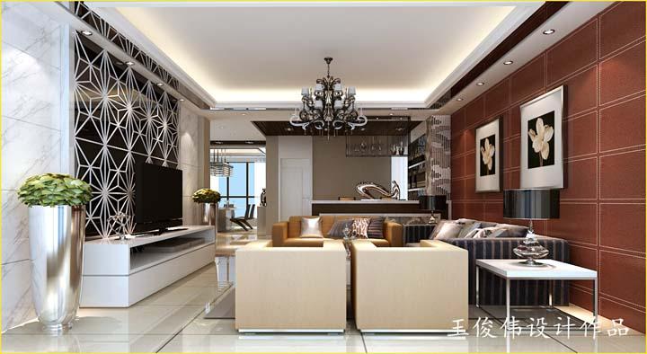 龙湖九里香醍350平方现代奢华别墅设计 润邦装饰无锡公司