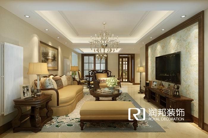 天元世家复式189平米美式风格无锡装饰无锡装修效果图