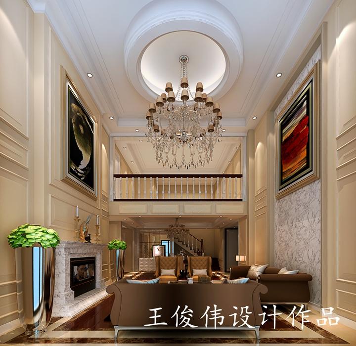 融创亚美利加200平方复式楼美式风格设计作品 润邦装饰无锡公司