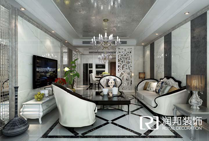 恒威中央领地148平方现代欧式风格 润邦装饰无锡公司设计作品
