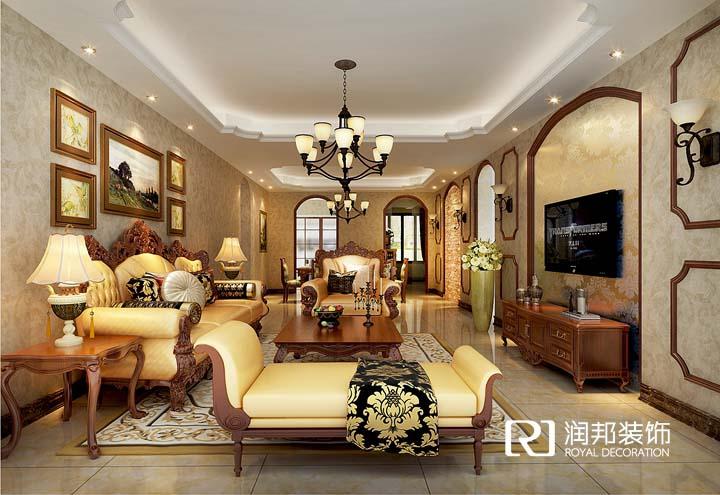 金科米兰137平米美式风格润邦装饰无锡公司