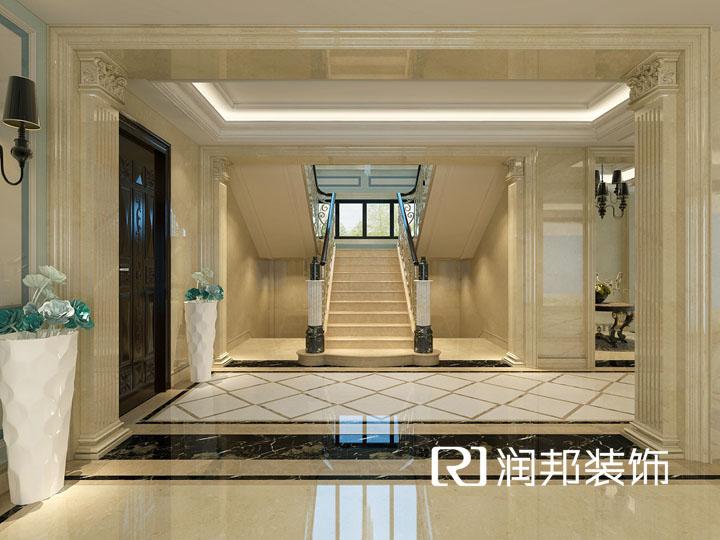 洛社独栋别墅400平方简欧风格设计 润邦装饰无锡公司