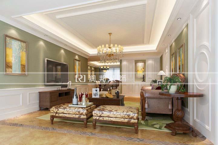 中央御景174平方美式风格 润邦装饰无锡公司设计作品