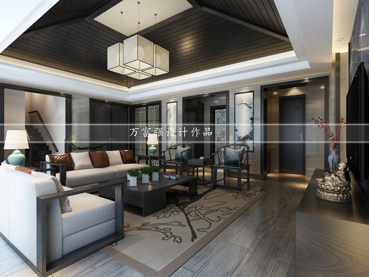 龙湖九墅220平方新中式风格 无锡润邦装饰