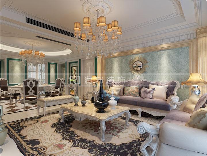 金科世界城洋房154平方法式风格设计效果图