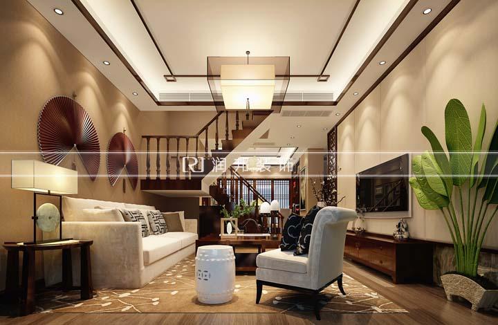 无锡装修装修 锡景苑130平方新中式风格设计效果图