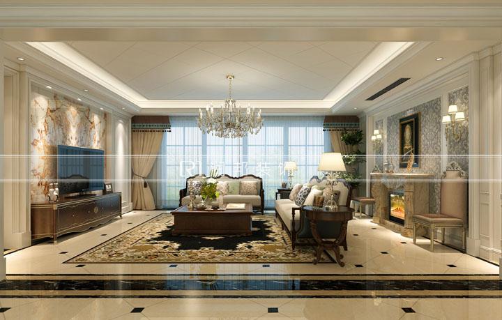 龙湖滟澜山高层户型168平方欧式风格 无锡润邦装饰设计作品