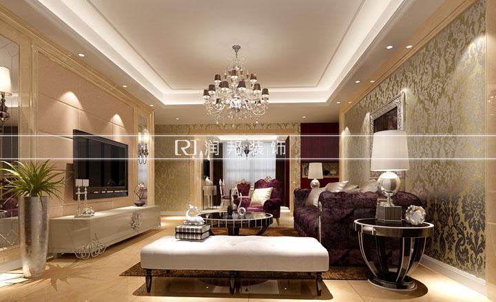 清扬御庭130平方欧式风格无锡润邦装饰