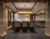 九龙仓碧玺218平方东南亚风格 美式乡村混搭润邦装饰设计作品