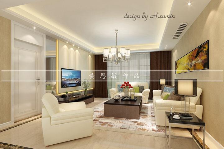 中央御景166平方现代简约风格设计案例 润邦装饰无锡公司
