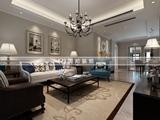 无锡装饰装修海尚映像120平方时尚简约风格效果图