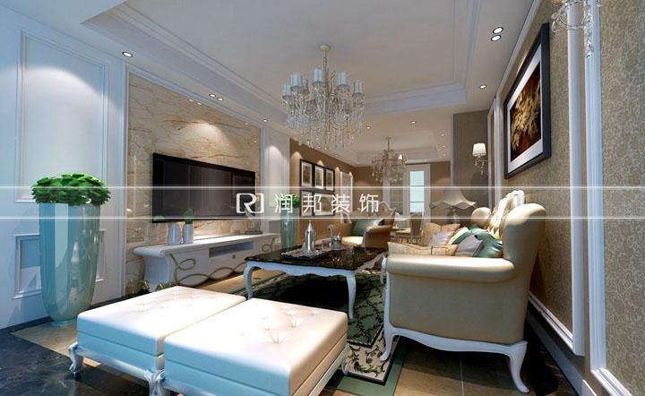 无锡装饰装修红豆香江豪庭127平方简欧风格