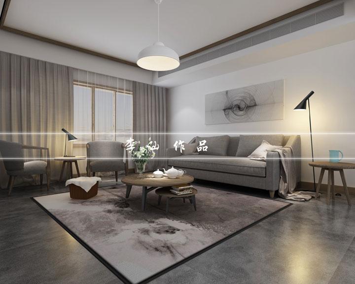 太湖国际190平方现代及简风格设计效果图 无锡润邦装饰