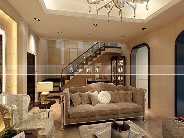 绿地原樽300平方联排别墅欧式风格设计效果图 润邦装饰