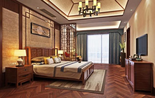 惠泉花园300平方新中式风格