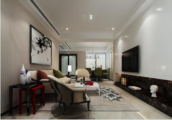 九龙仓碧玺235平方现代中式风格设计