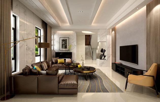 太湖国际联排别墅现代简约风格设计案例 无锡别墅装修