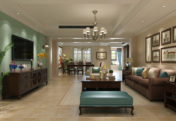 阿卡迪亚洋房现代美式风格