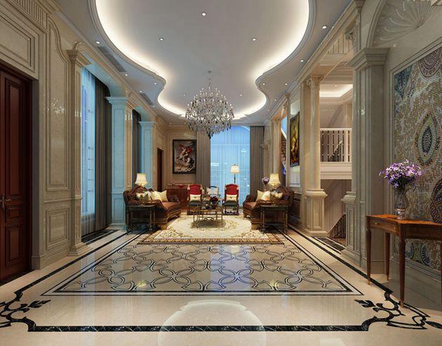 银河湾500平方联排别墅美式混搭风格作品