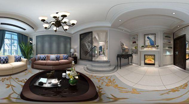 华府庄园七区256平方米别墅现代美式风格