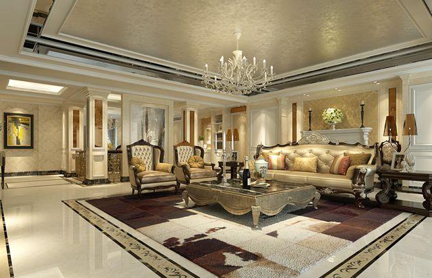 龙湖九墅一楼复式结构189平方户型新古典风格 润邦装饰无锡公司