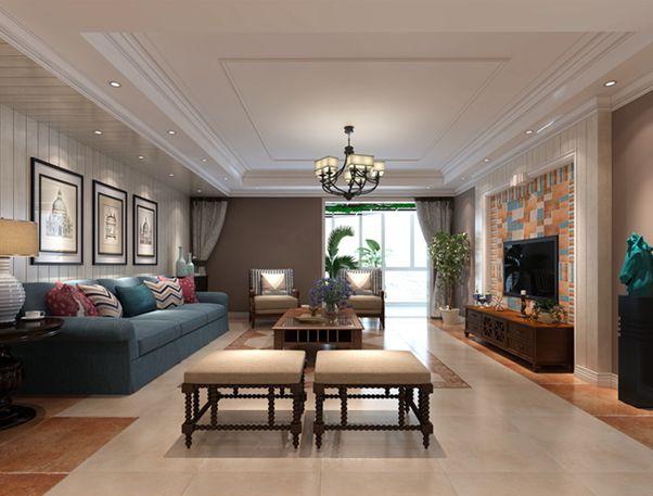 阳光城市花园-三室两厅两卫-现代美式风格