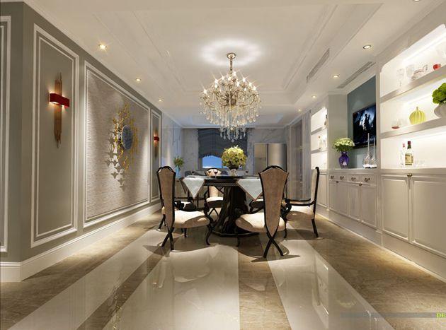 保利香槟190平方简约欧式风格作品赏析  无锡润邦装饰