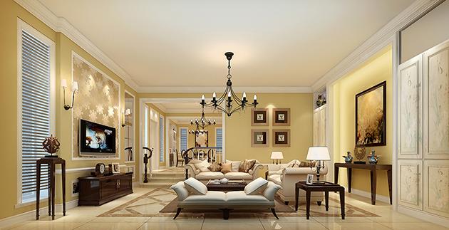 复地澜湾330平美式风格设计案例无锡润邦装饰