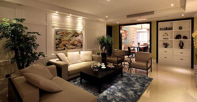 西水东178平现代法式风格完工实景无锡润邦装饰