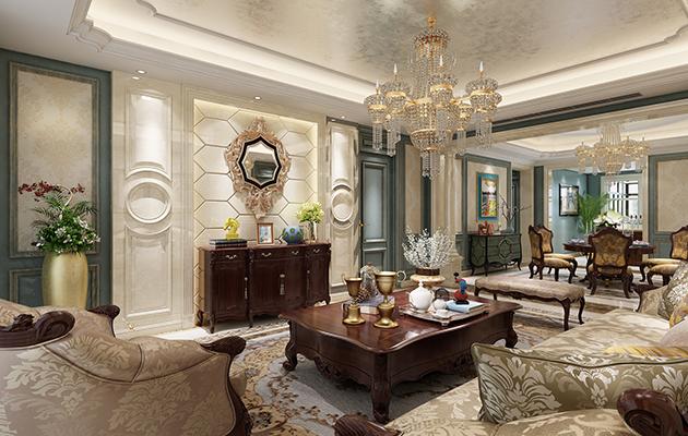 金科世界城270平方美式风格底层复式