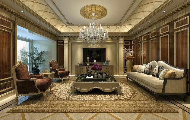 亚美利加550平方独栋别墅欧式风格案例赏析