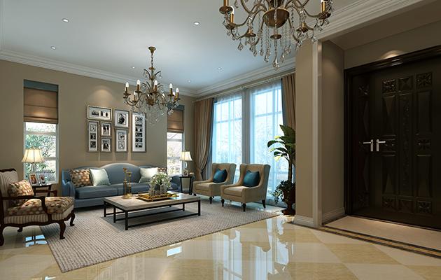 嘉利华府庄园四区239平方现代欧式风格无锡润邦装饰
