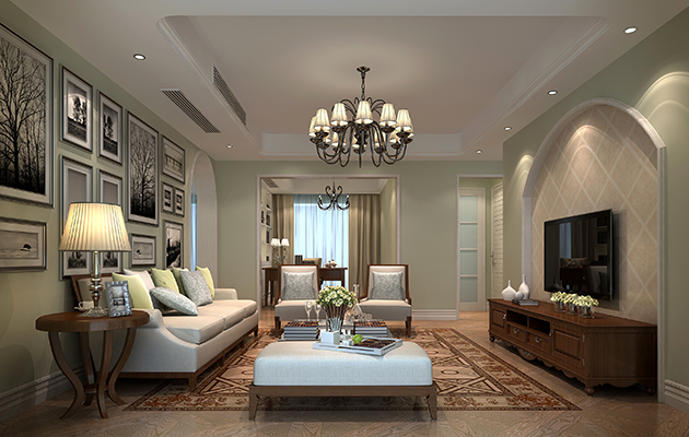 金科世界城120平方现代美式风格 无锡装修公司