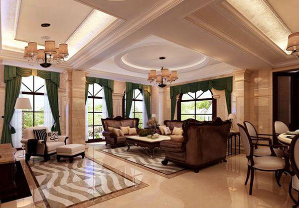 龙湖滟澜山下叠270平混搭风格无锡润邦装饰