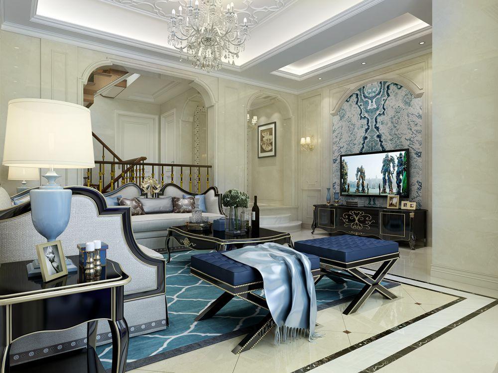 嘉利华府庄园七区207平方欧式风格设计案例