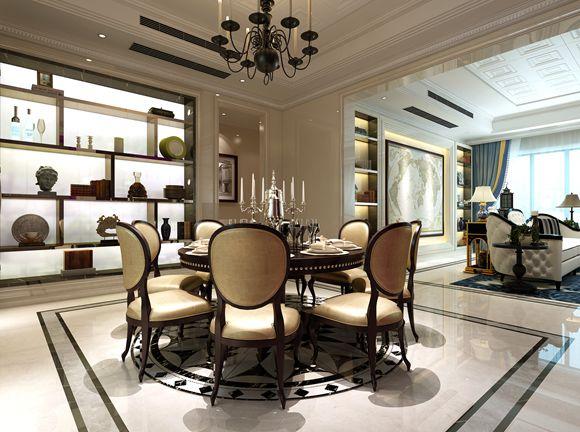 龙湖九里香醍350平方联排别墅边套户型后奢华风格设计案例