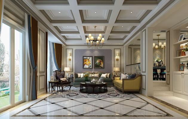 长泰国际247平联排别墅美式风格