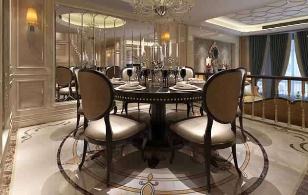 长泰国际联排别墅247平方简欧风格案例赏析